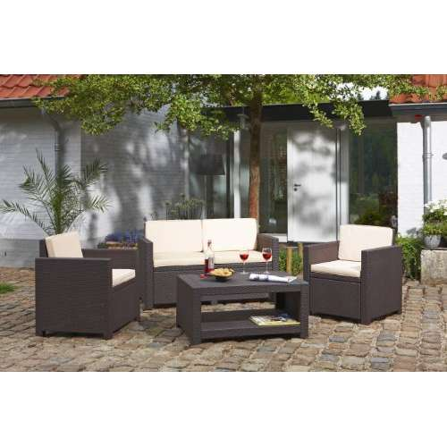 Lounge Set Monaco Rattanoptik von Allibert