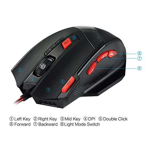 Patuoxun Thunderbird Wired Gaming Maus