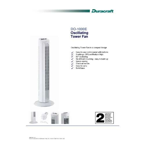 Duracraft DO 1000E Turmventilator