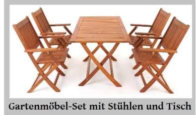 Gartenmöbel Set Mit Stühlen Und Tisch